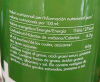 Lemonaid+ - Información nutricional
