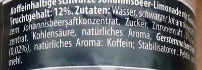 schwarze Limonade Johannisbeere & Guaranaextrakt - Ingrediënten