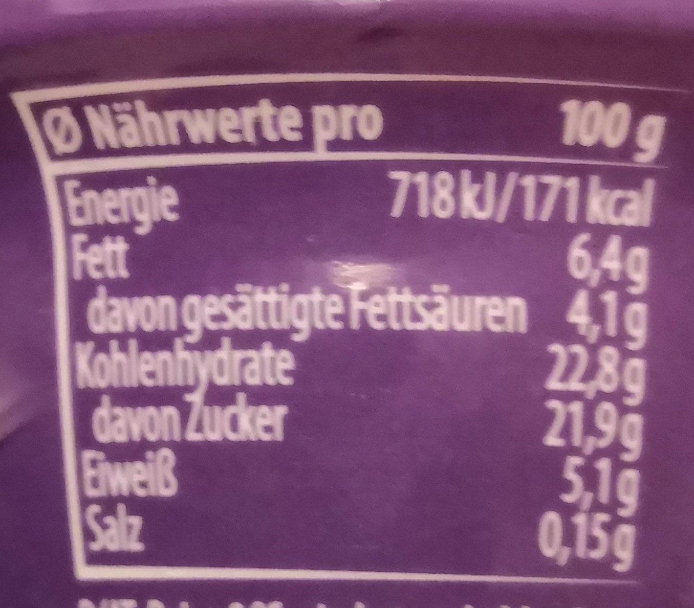 Mousse - Informations nutritionnelles - fr