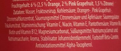 iSO light Pink Grapefruit - Ingrédients