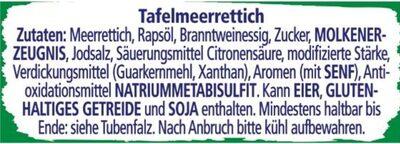 scharfer Meerrettich - Zutaten - de
