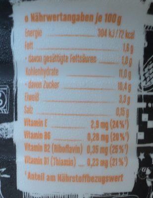 Mullermilch Bautura lactata cu gust de caramel-fursec-ciocolata - Nährwertangaben - ro