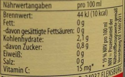 Flensburger Radler alkoholfrei - Nutrition facts