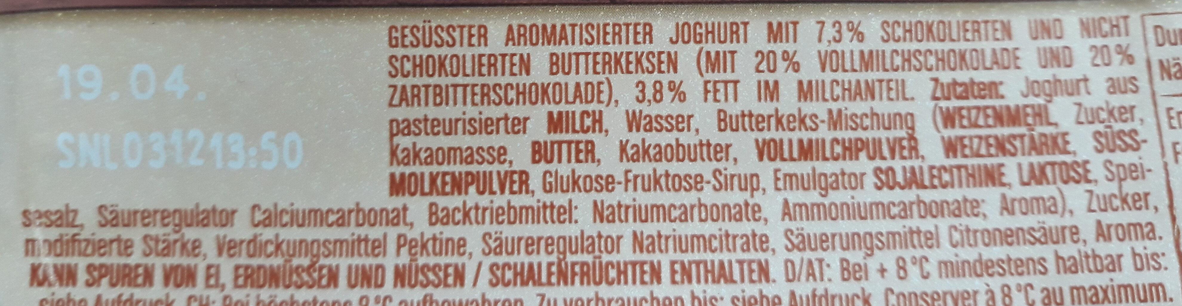 Müller Joghurt Butterkekse - Inhaltsstoffe - de