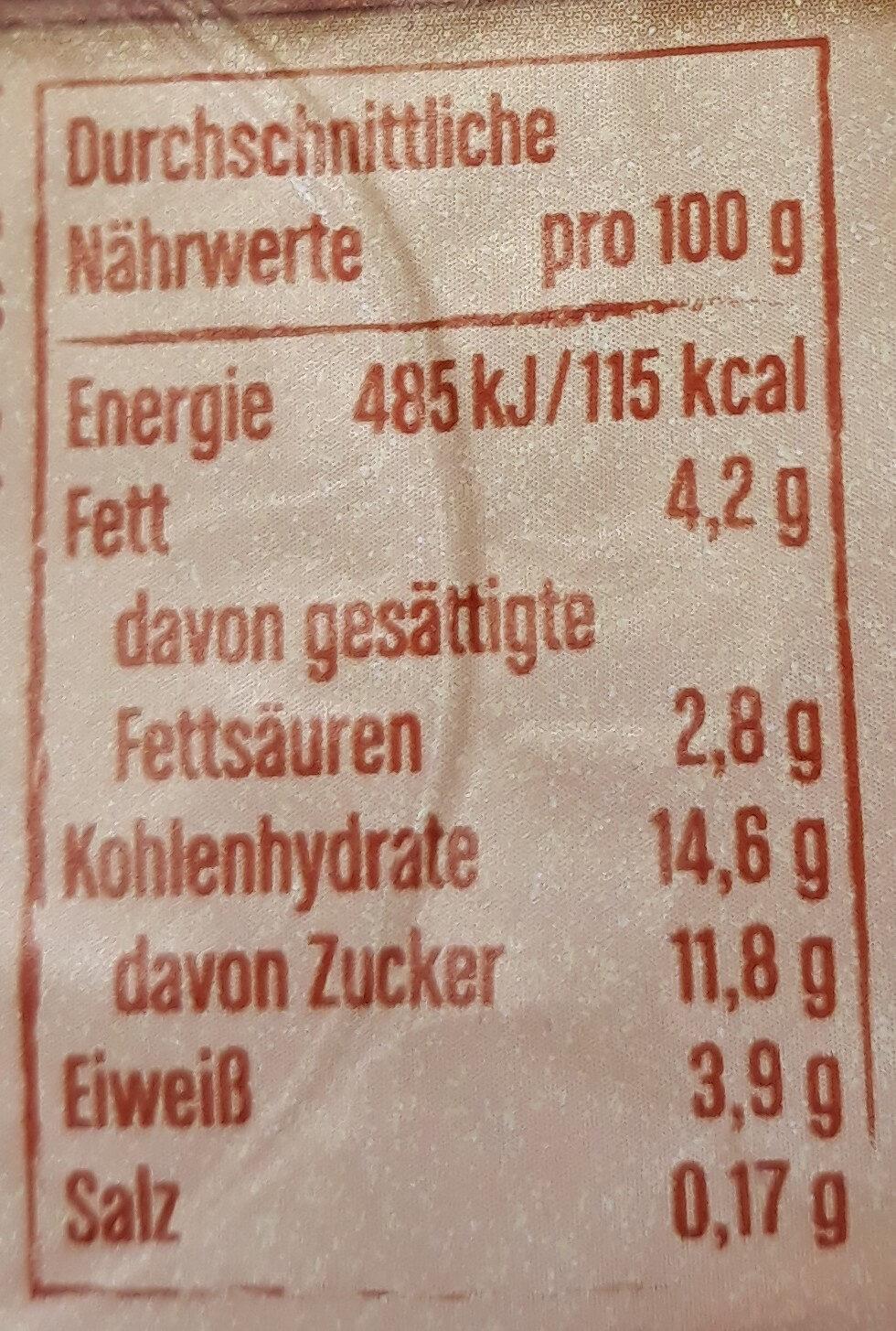 Müller Joghurt Butterkekse - Nährwertangaben - de