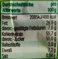 Edel Marzipan-Ei mit Nougat - Valori nutrizionali - de