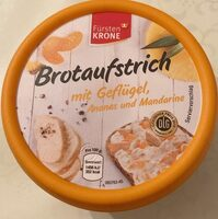Brotaufstrich mit Geflügel, Ananas und Mandarine - Produkt - de