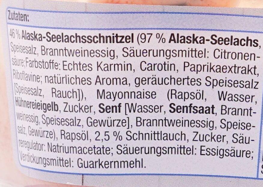 Brotaufstrich Alaska-Seelachs - Ingredienti - de