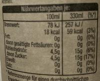Weißer Tee Pfirsich Rosmarin - Nutrition facts - de