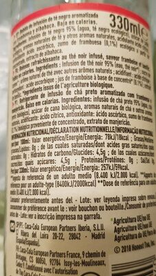 Honest organic tea - Ingrediënten - es