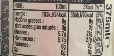 citronade bio - Informations nutritionnelles - fr