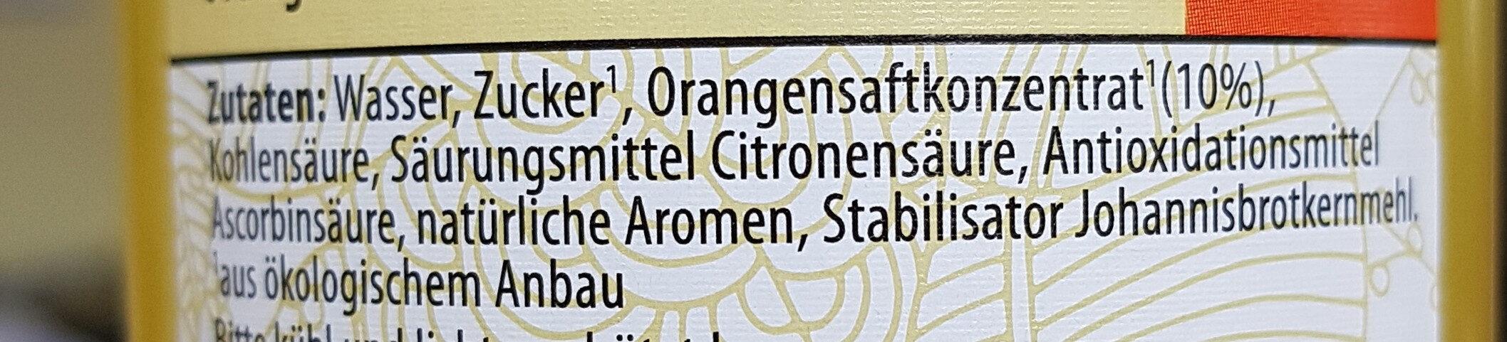 BIO Limonade mit Orangengeschmack - Ingrédients