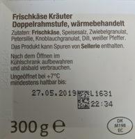 Frischkäse Kräuter - Ingrediënten - de