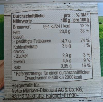 Frischkäse Kräuter - Voedingswaarden - de