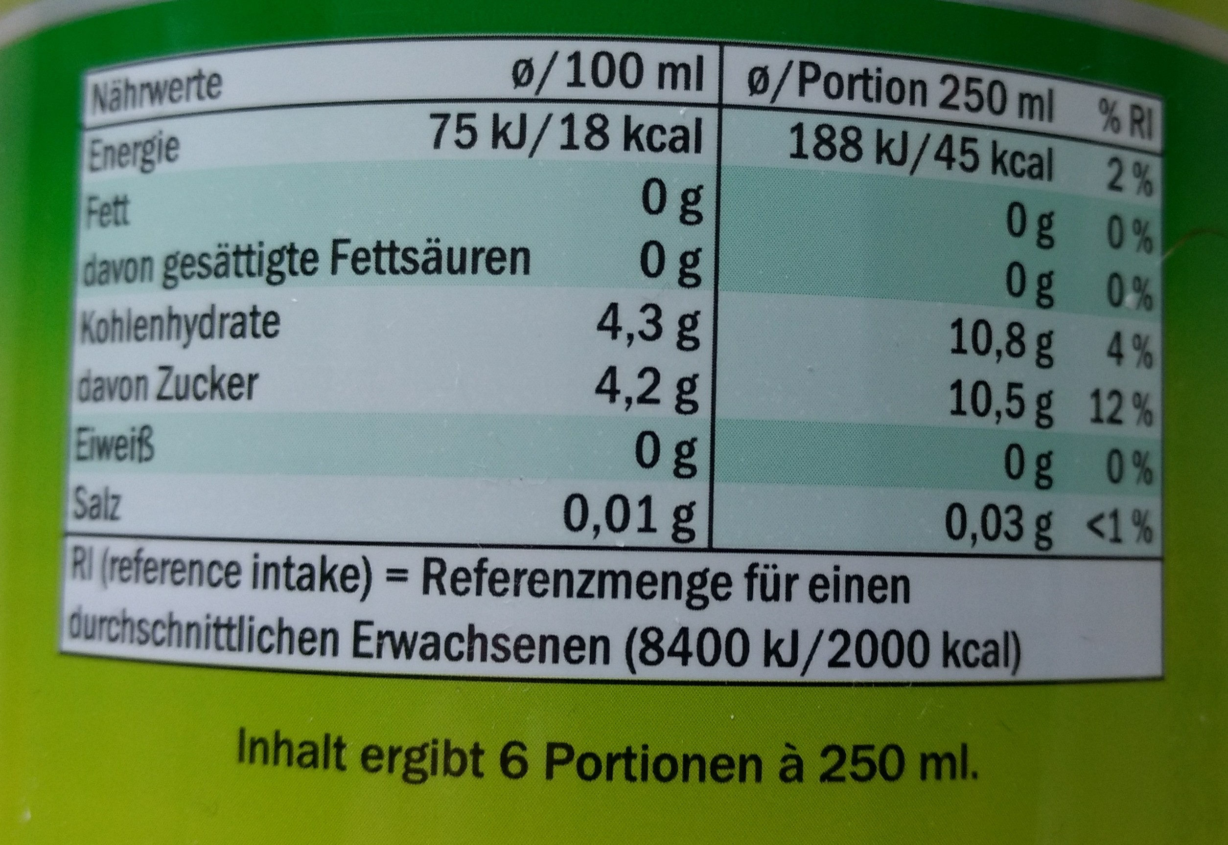 Limette - Nutrition facts