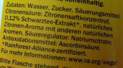 Eistee zitrone (citron) - Inhaltsstoffe
