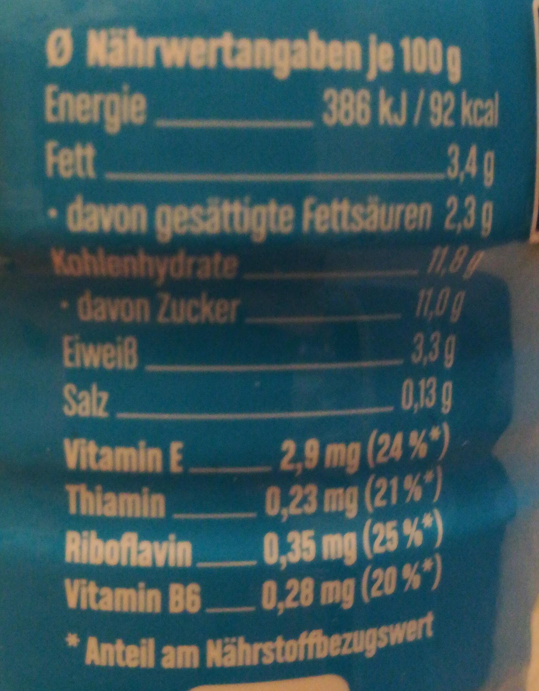 Müller Milch Saison Milchschokolade - Nutrition facts - de