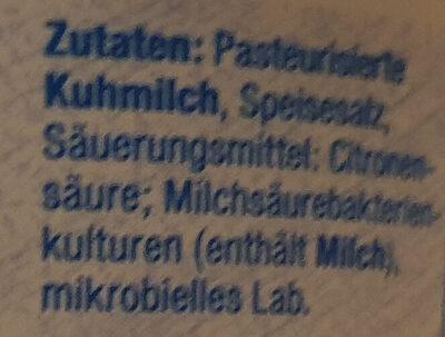 Mozarella Minikugeln - Ingredients - de