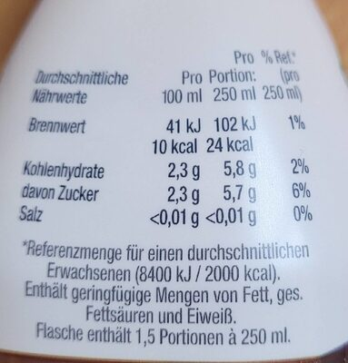 Volvic coffee maracuja - Nutrition facts