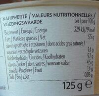 Vanille Cashew with yoghurt culture - Voedingswaarden