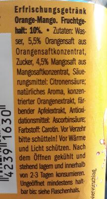 Juicy orange-mango - Ingredients - de