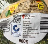 Brokkoli - Inhaltsstoffe