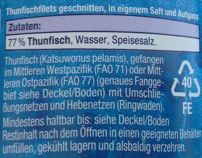 Thunfisch Filets in Saft - 2