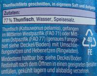 Thunfisch Filets - Ingrediënten - de