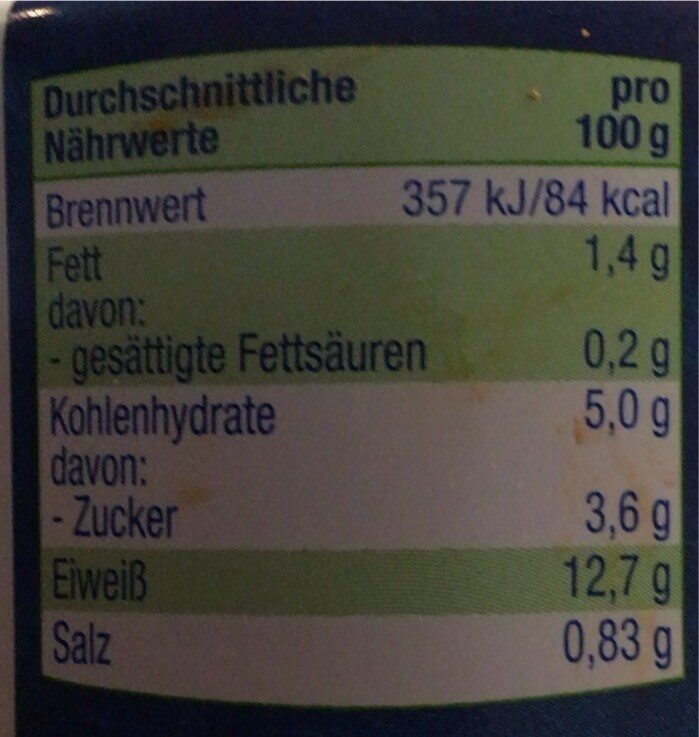 Tunfisch - Nährwertangaben - de