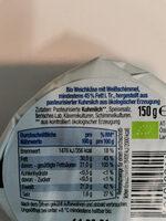 BioBio Camembert classic - Ingrédients - de