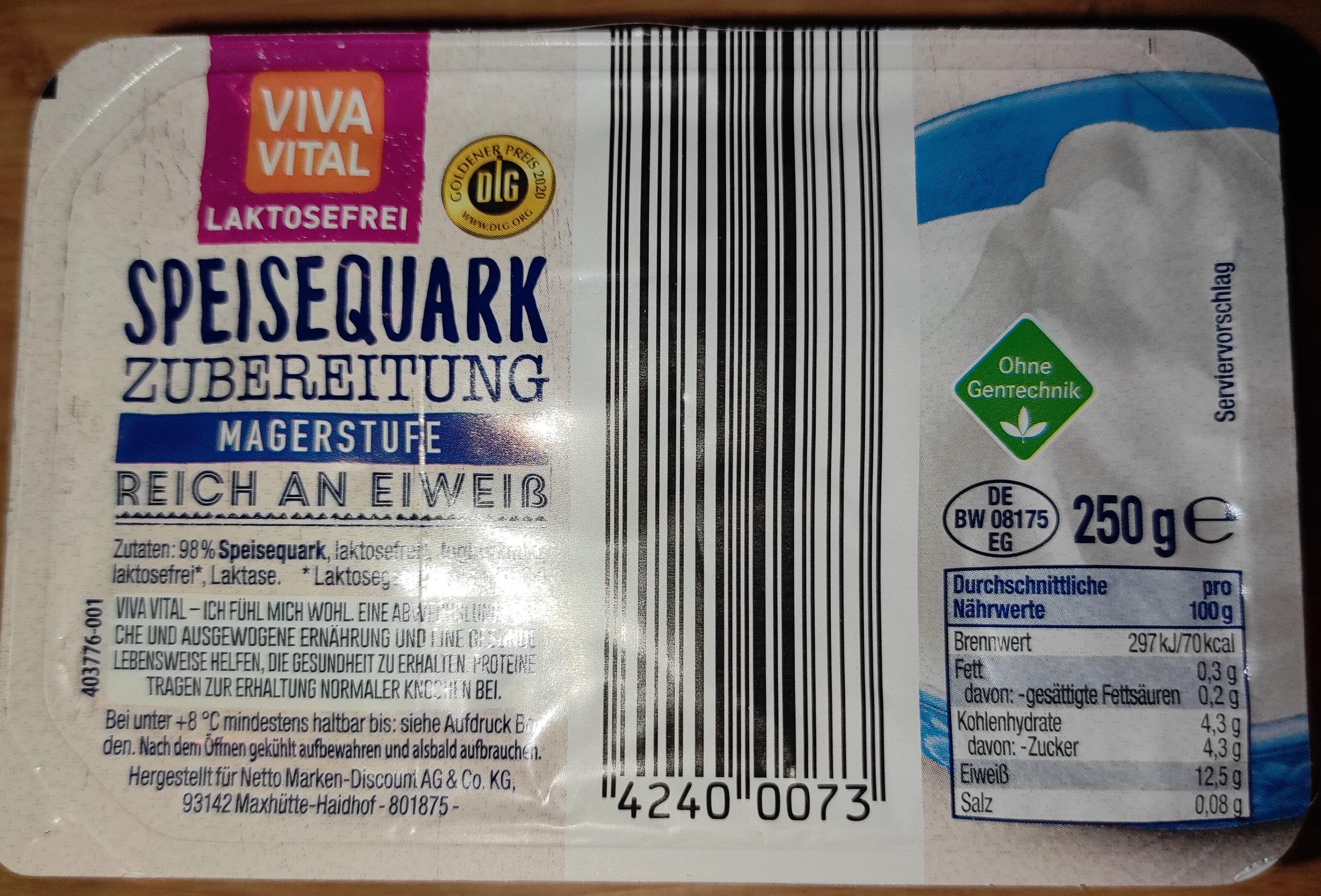 viva vital Laktosefrei Speisequark - Produkt - de