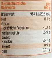 Aprikosen Konfitüre extra - Informations nutritionnelles - de