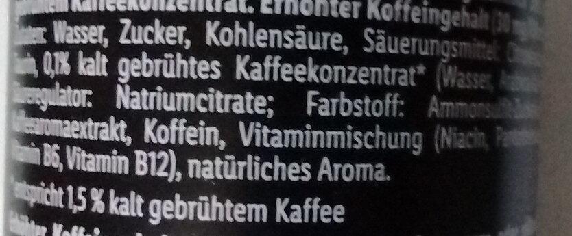 Cold Brew Coffee Energy Drink - Zutaten - de