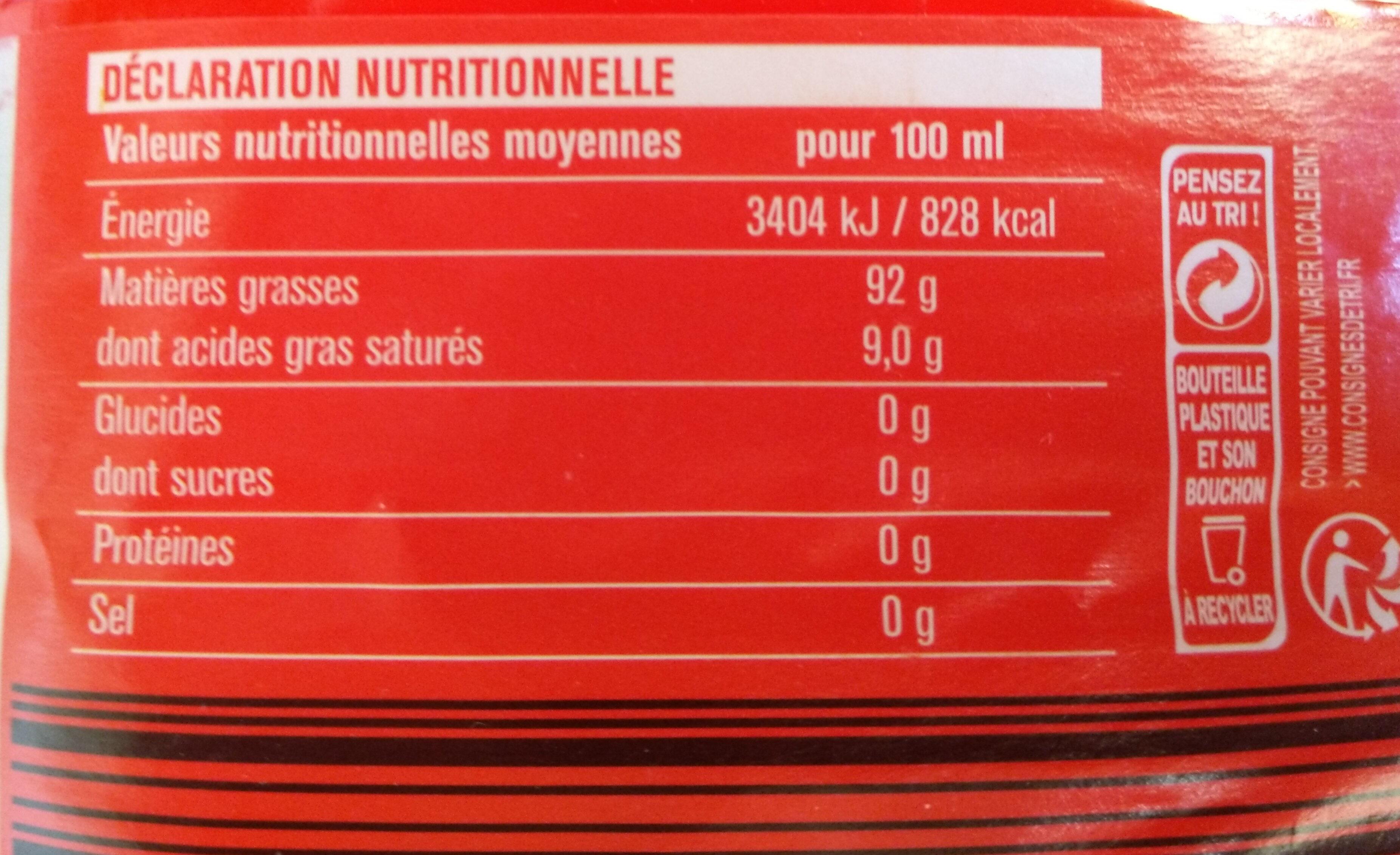 Vita d'or Spéciale Friture - Valori nutrizionali - fr