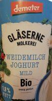 Weidemilch Jogurt mild - Produkt - de