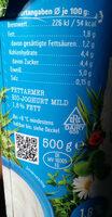 Weidemilch Jogurt mild - Zutaten - de