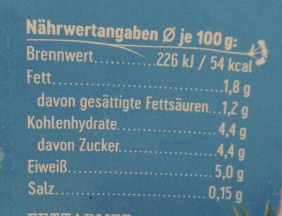 Weidemilch Jogurt mild - Nährwertangaben - de