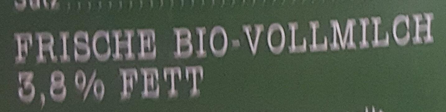 Frische Bio Heumilch 3,8% Fett - Ingredients