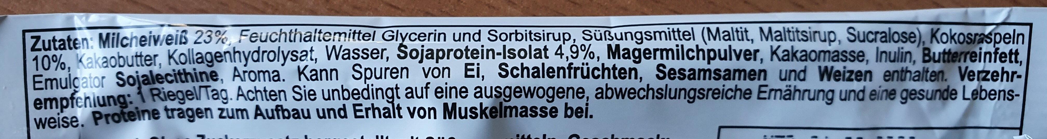 Pro-Plex Protein Bar - Ingredienti - de
