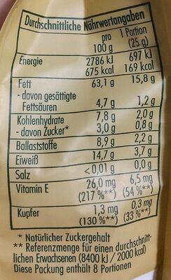 Bio Haselnusskerne - Informations nutritionnelles - de