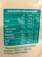 Aprikosen ungeschwefelt - Nutrition facts - de