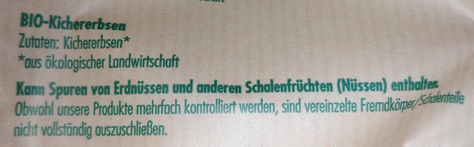 Kichererbsen Getrocknet / Pois chiches secs - Ingredients - de