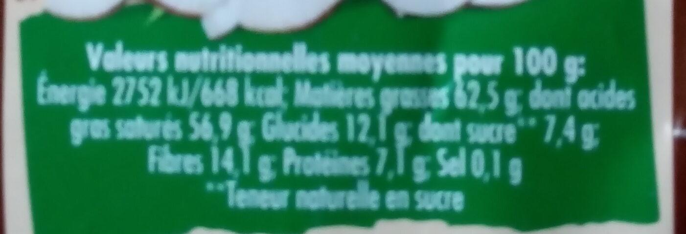 Chips noix de coco - Informations nutritionnelles - fr