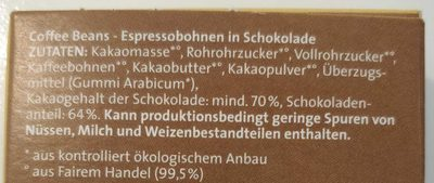 Coffee Beans - Ingredients - de