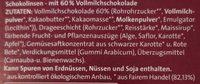 Schoko Linsen - Zutaten