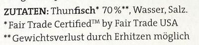 Thunfisch Filets - Ingrédients - de