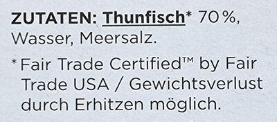 Thunfisch Filets - Ingredienti - de