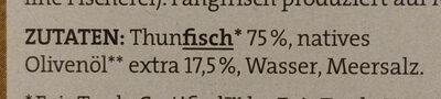 Tunfisch Filets - Zutaten - de