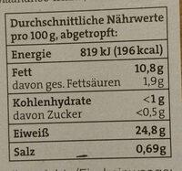 Tunfisch Filets - Nährwertangaben - de