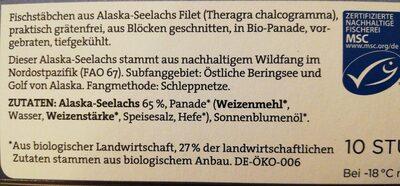 10 Fischstäbchen in Bio-Panade - Ingredients